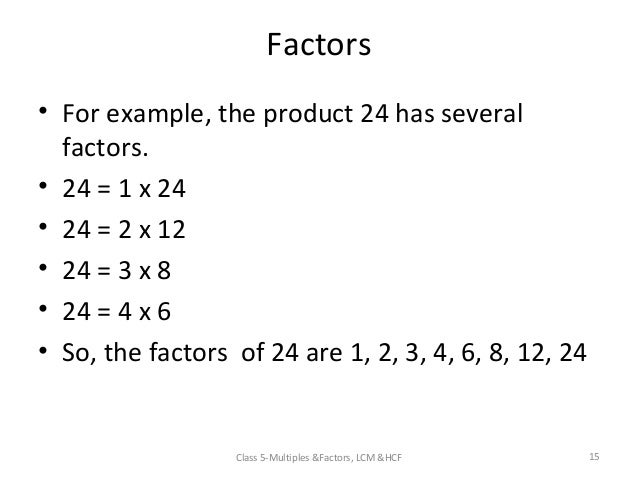 Factors lesson ks2