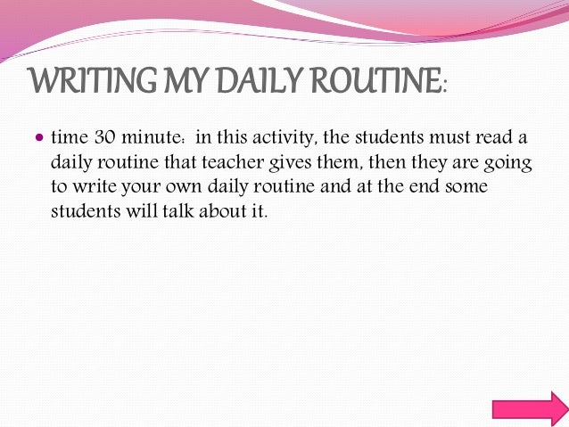Essay on daily routine