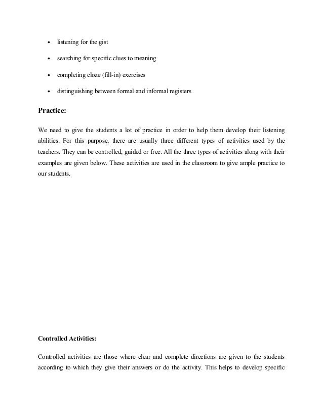 lesson plan celta skills listening Let's first start then with the celta approach  particular listening sub–skills  allow time for intensive re–listening of short passages which students identified   more generally, when planning a listening lesson, ask yourself.