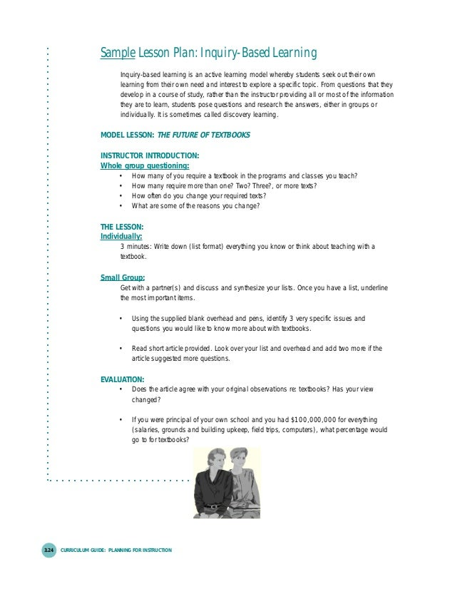 Lesson planning for Inquiry based learning lesson plan template
