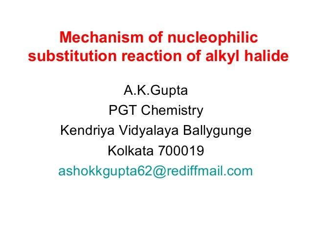 nucleophilic substitution reaction mechanism pdf