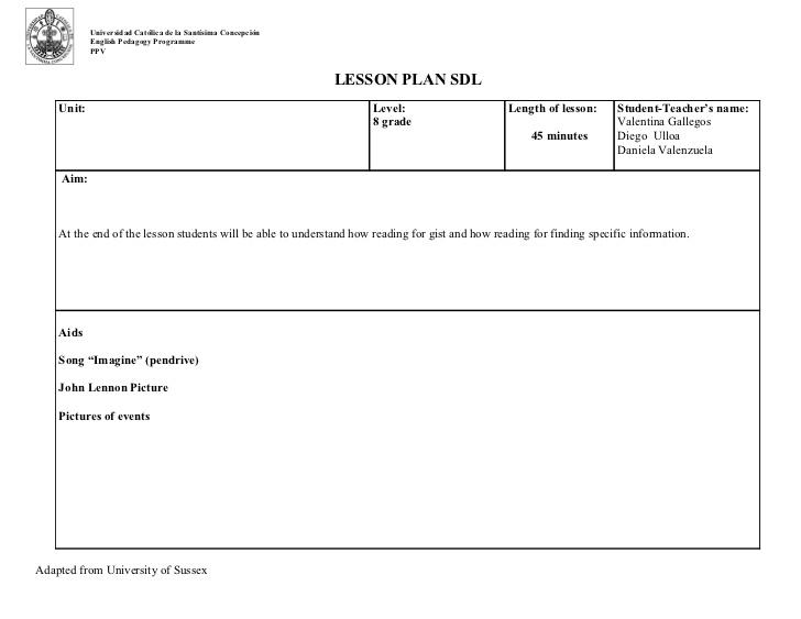 unit lesson plan template