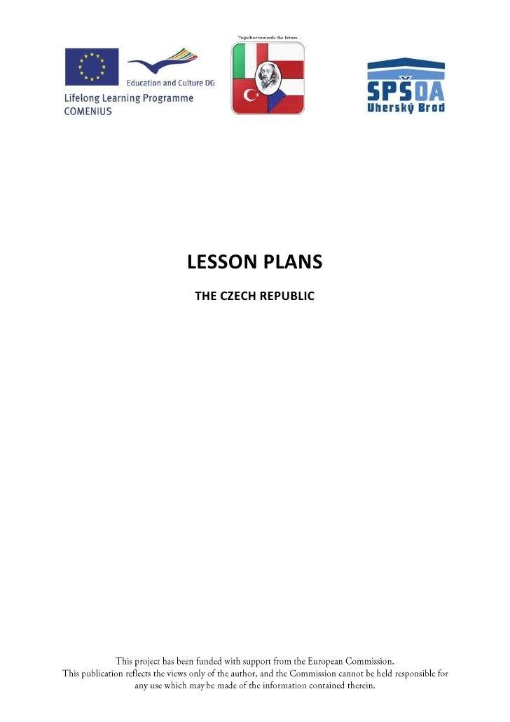 LESSON PLANSTHE CZECH REPUBLIC