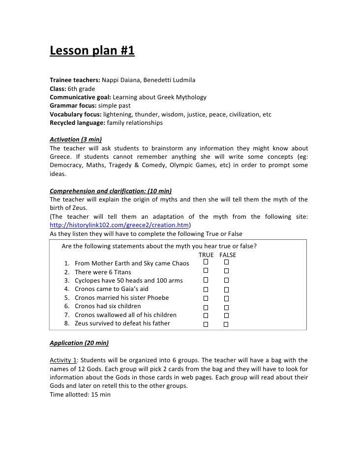 Lesson plans 1-3, Webquest