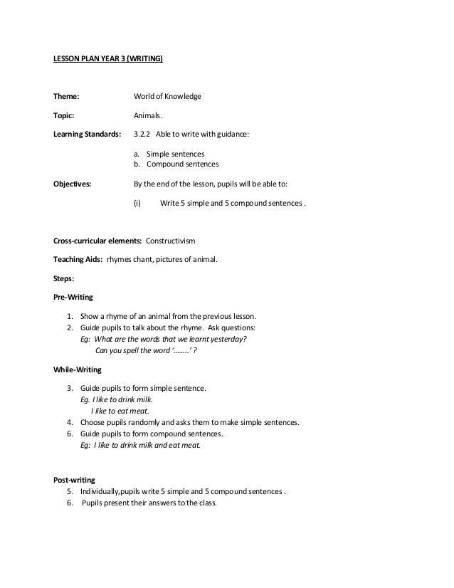 informal essay lesson plan