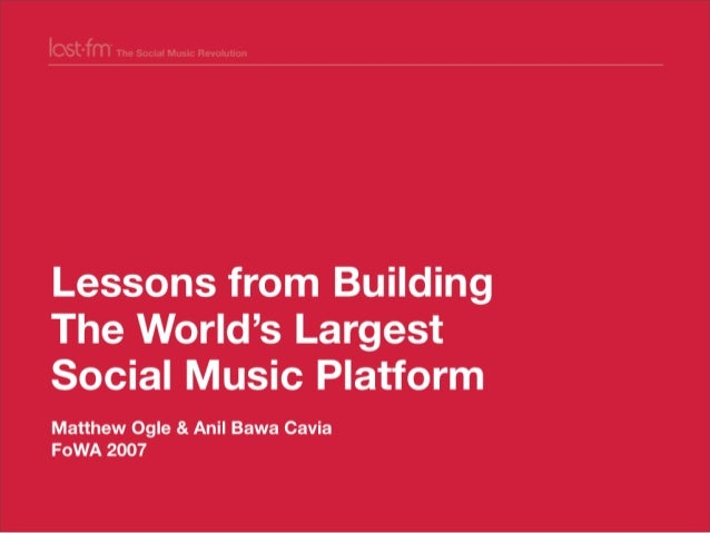 Lessons from Building world's largest social music platform