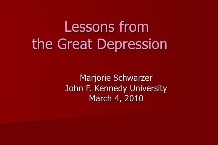 Lessons from the Depression
