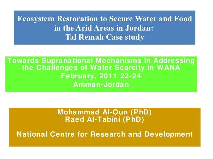 Lessons from Jordan Mohammad Al Oun