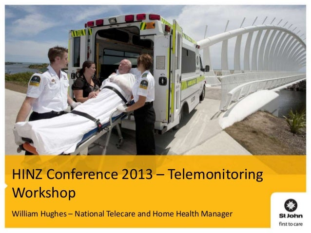 HINZ Conference 2013 – Telemonitoring Workshop William Hughes – National Telecare and Home Health Manager