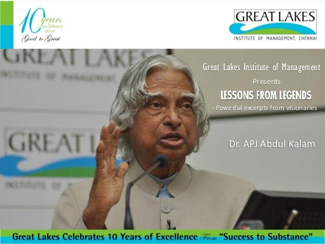 Great Lakes Institute of Management Presents Great Lakes Institute of Management Presents  - Powerful excerpts from vision...