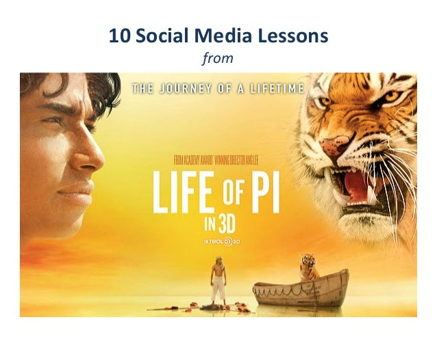 Social Media lessons from Life of Pi