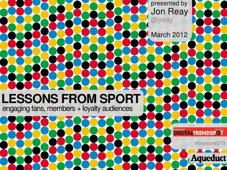 presented by                                             Jon Reay                                             @jreay      ...