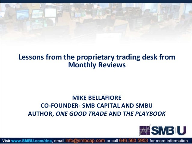 How to start a proprietary trading desk