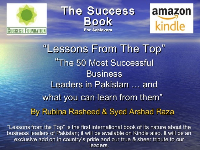"""The Success                          Book                                 For Achievers               """"Lessons From The To..."""