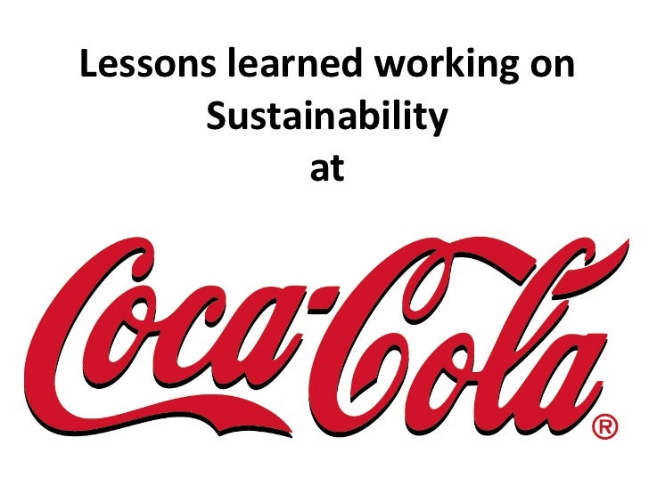 Lessons learned working on      Sustainability             at