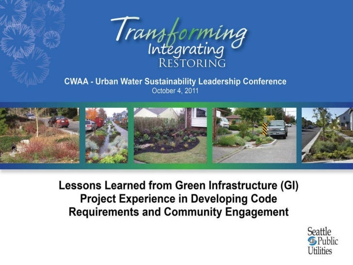 Lessons learned from green infrastructure project experience in developing code requirements and community engagement