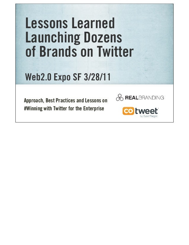 Ad Tech_2011: Lessons Learned Launching Brands on Twitter