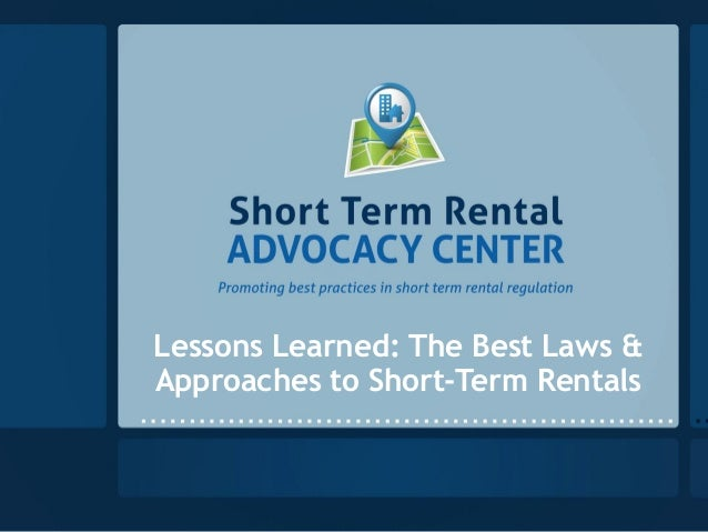 Lessons Learned: The Best Laws & Approaches to Short-Term Rentals