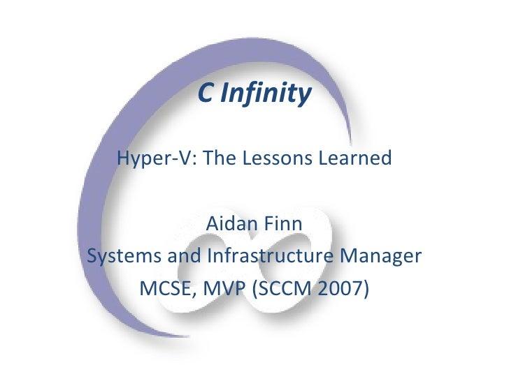 Lessons On Hyper V