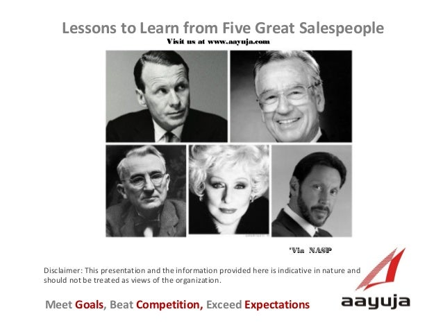 Lessons to Learn from Five Great Salespeople