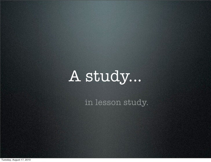 What is Lesson Study?