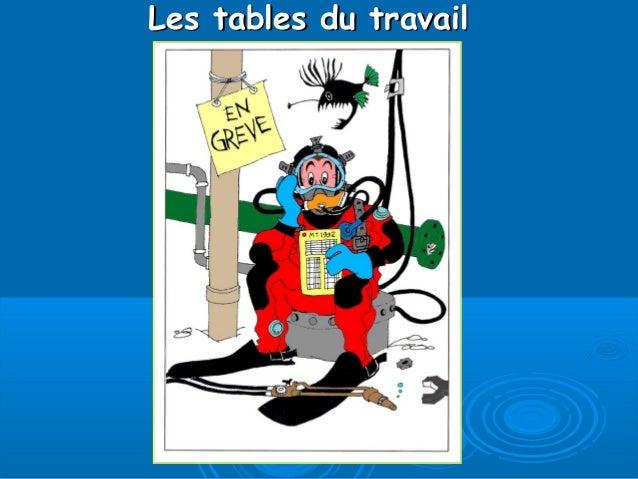 Les tables du travailLes tables du travail
