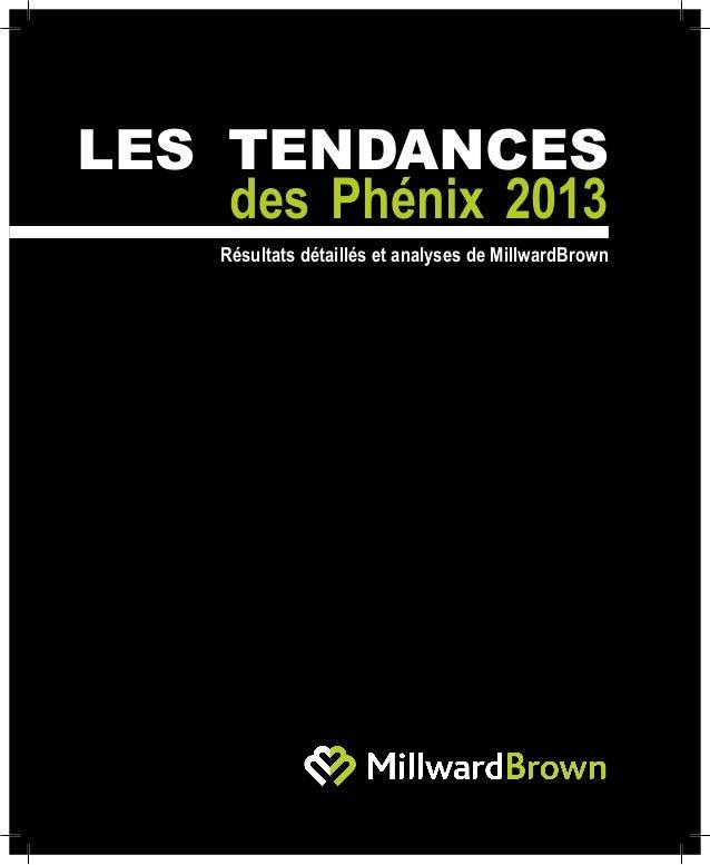 Les tendances des phénix 2013