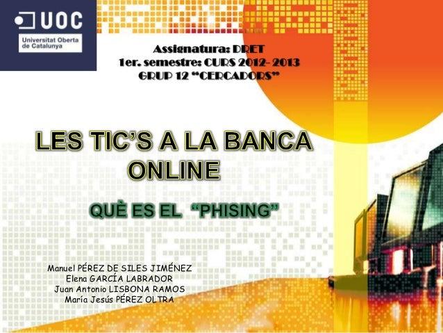 Les tics a la banca online