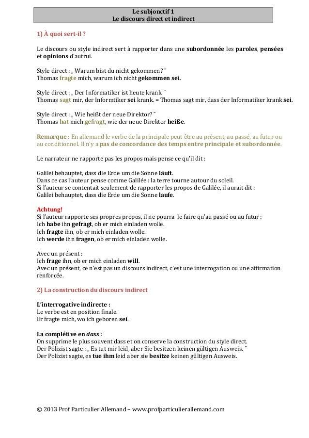 ©  2013  Prof  Particulier  Allemand  –  www.profparticulierallemand.com   Le  subjonctif  1   Le  d...
