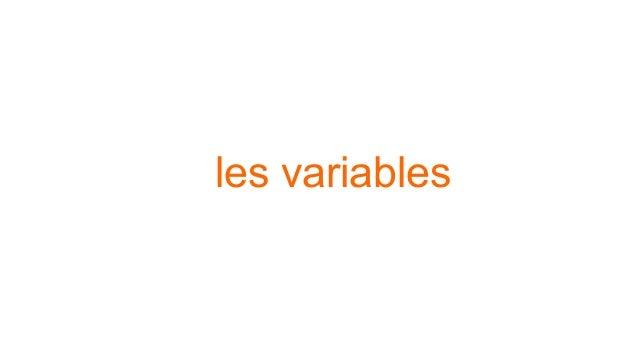 les variables