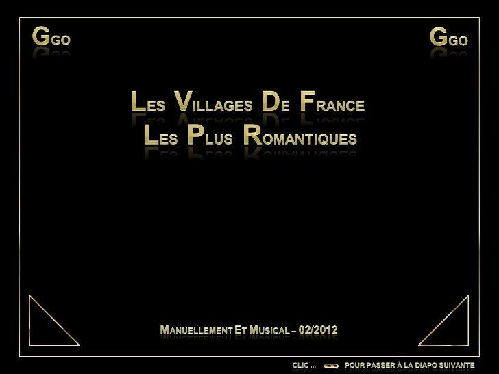 Les villages de France les plus romantiques