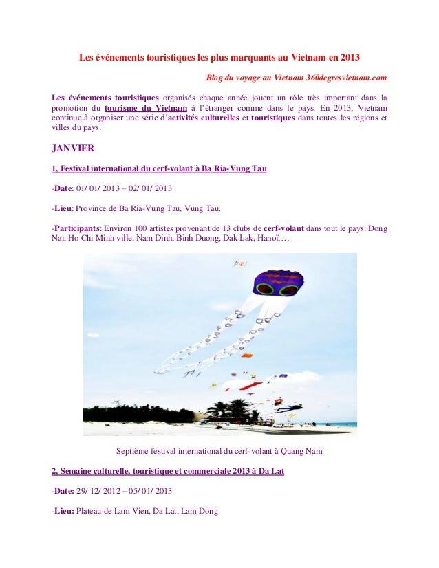 Les événements touristiques les plus marquants au vietnam en 2013