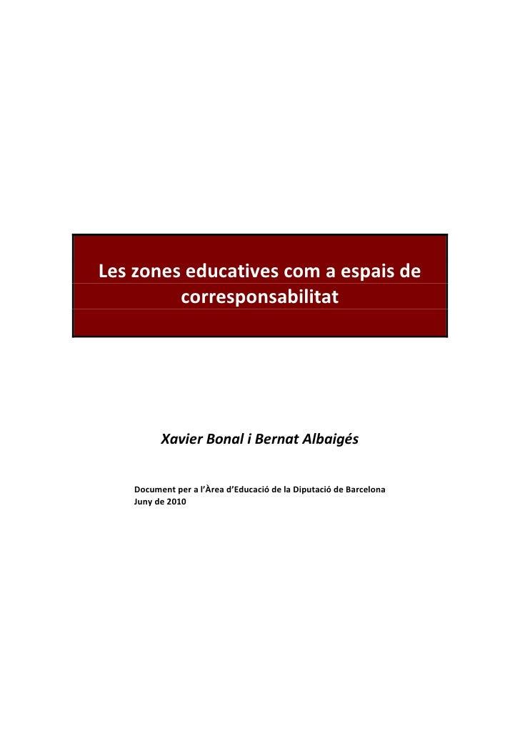 Les zones educatives com a espai de corresponsabilitat