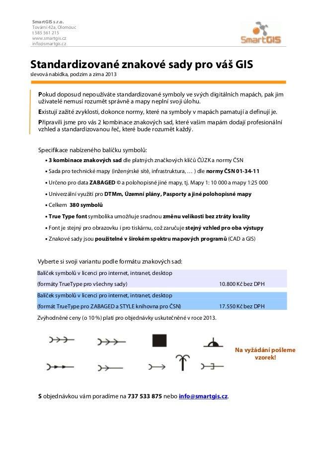 Štandardizované znakové sady pre profesionálny vzhľad máp od SmartGIS