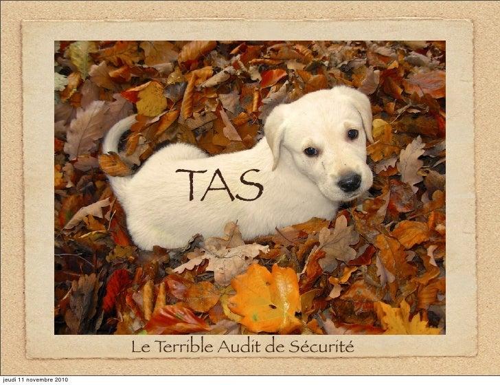 TAS                         Le Terrible Audit de Sécuritéjeudi 11 novembre 2010