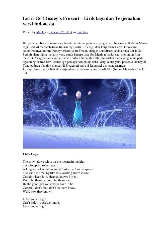 Frozen 638 Cb Demi Lovato Lirik Terjemahan