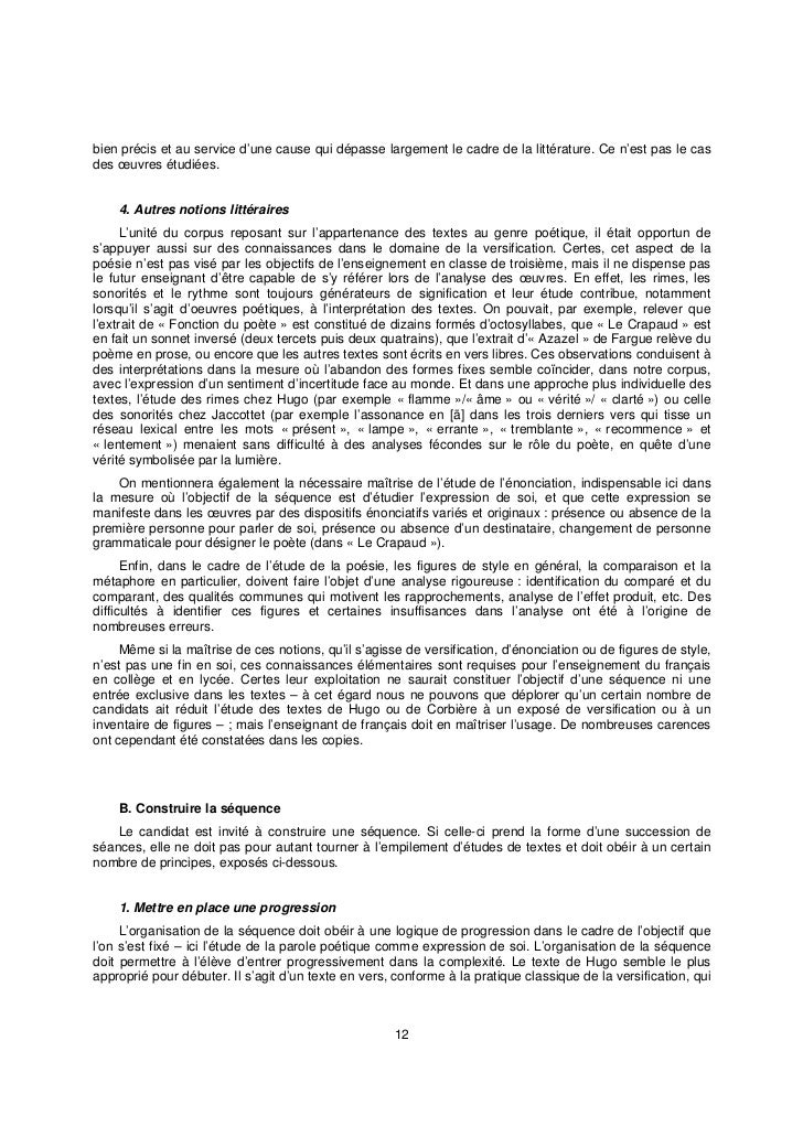 Dissertation didactique capes interne