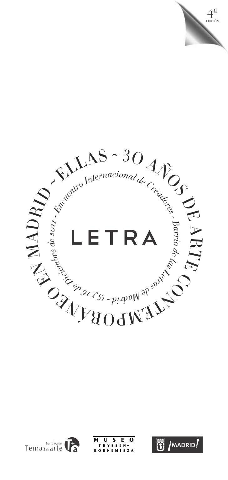 Letra. Ellas. Museo Thyssen. 15 y 16 de diciembre