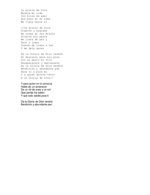 la letra de la cancion hasta el final: