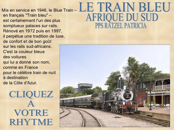 Le train bleu_afrique_du_sud