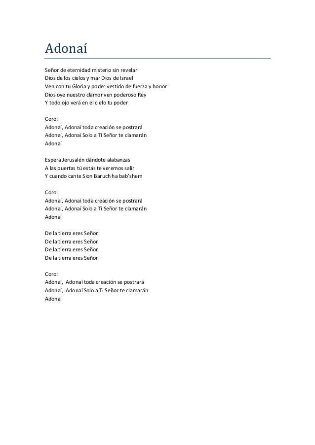 letras de coros cristianos: