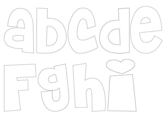 Moldes de letras grandes minusculas - Imagui