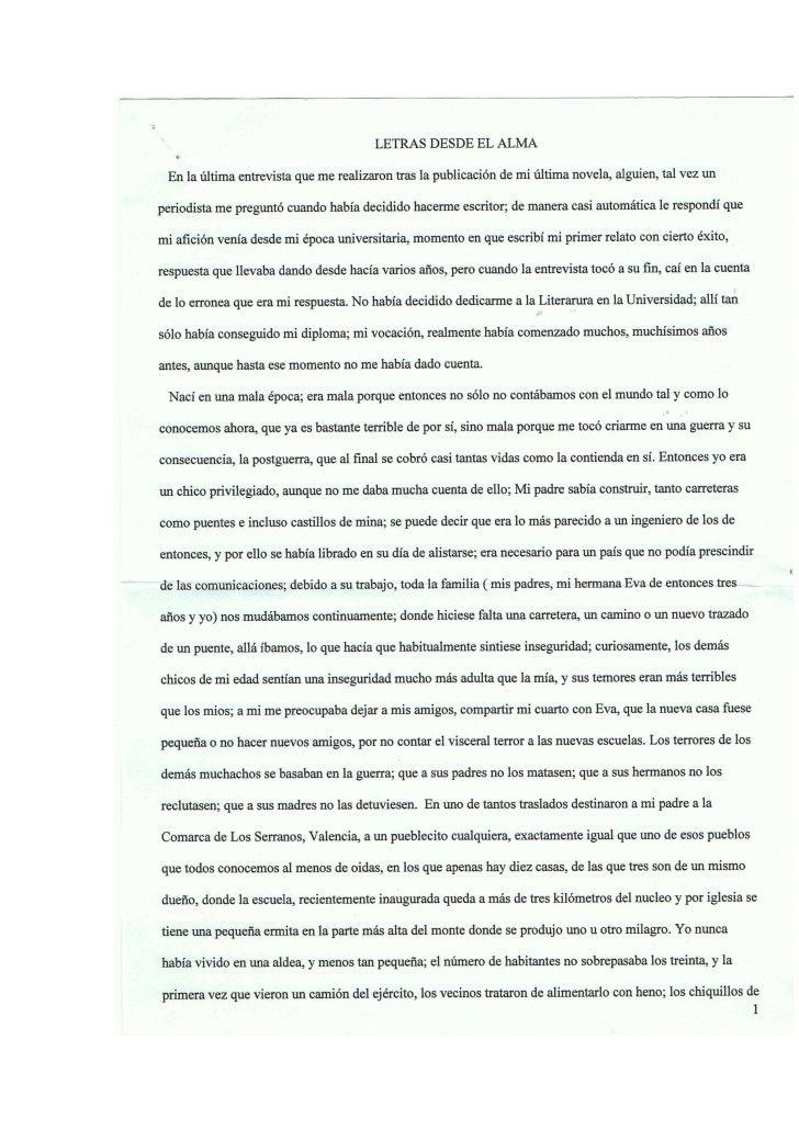 Letras Desde El Alma
