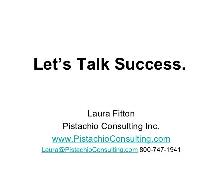 Let's Talk Success