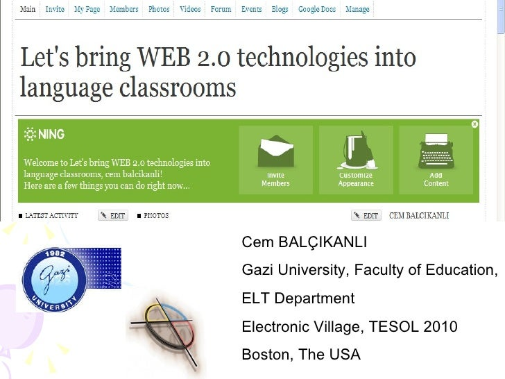 Lets Bring Web 2 0 Technologies Into Language Classrooms An Interactive Project