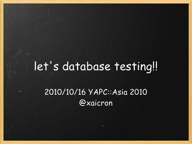 Let s database_testing