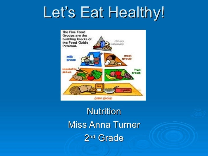 Let's Eat Healthy! Nutrition Miss Anna Turner 2 nd  Grade