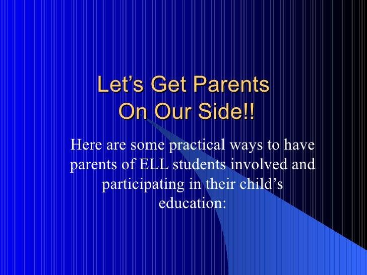 Let's get parents