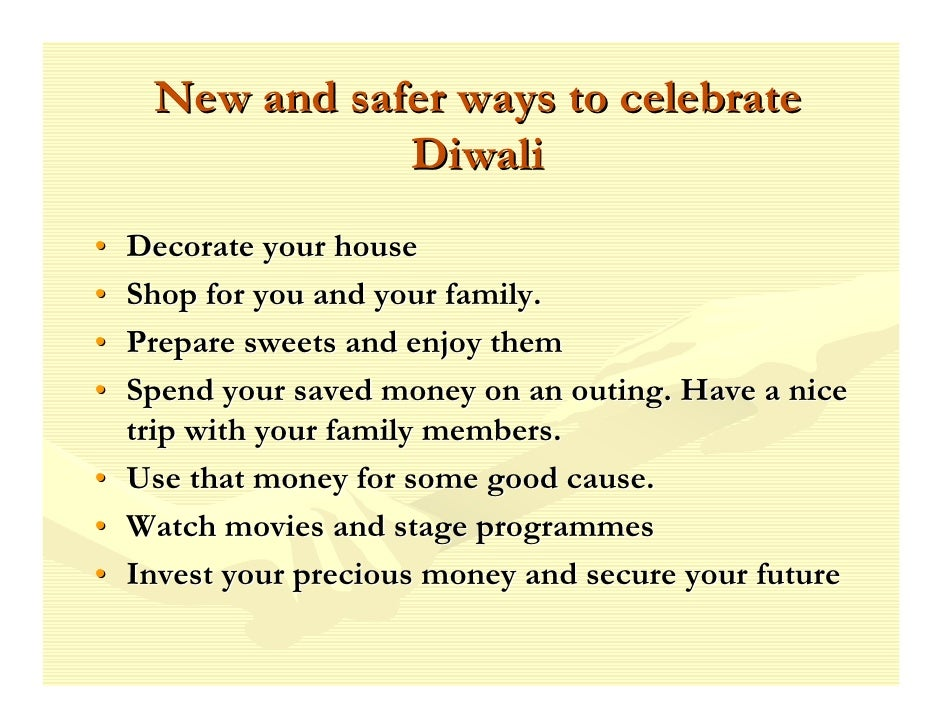 safe diwali essay in english