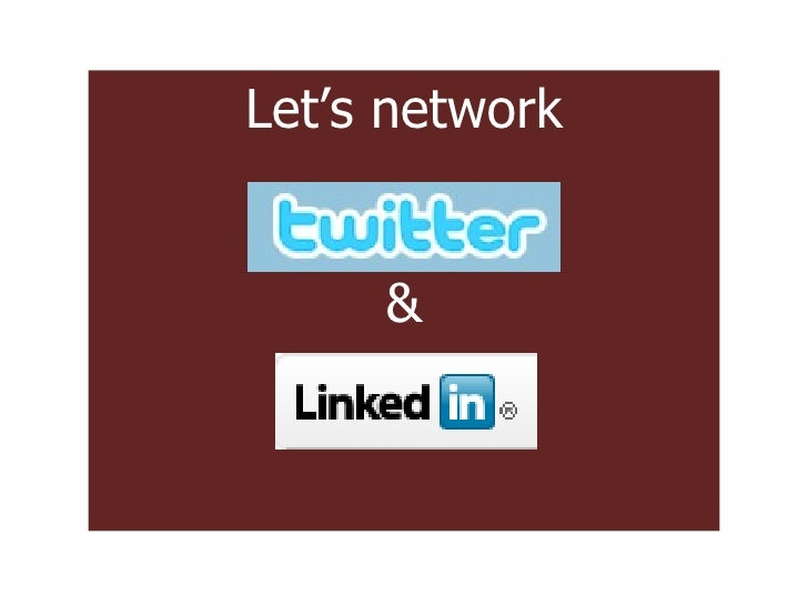 Let's network &